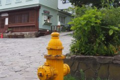 Hakodate - Bouche incendie jaune