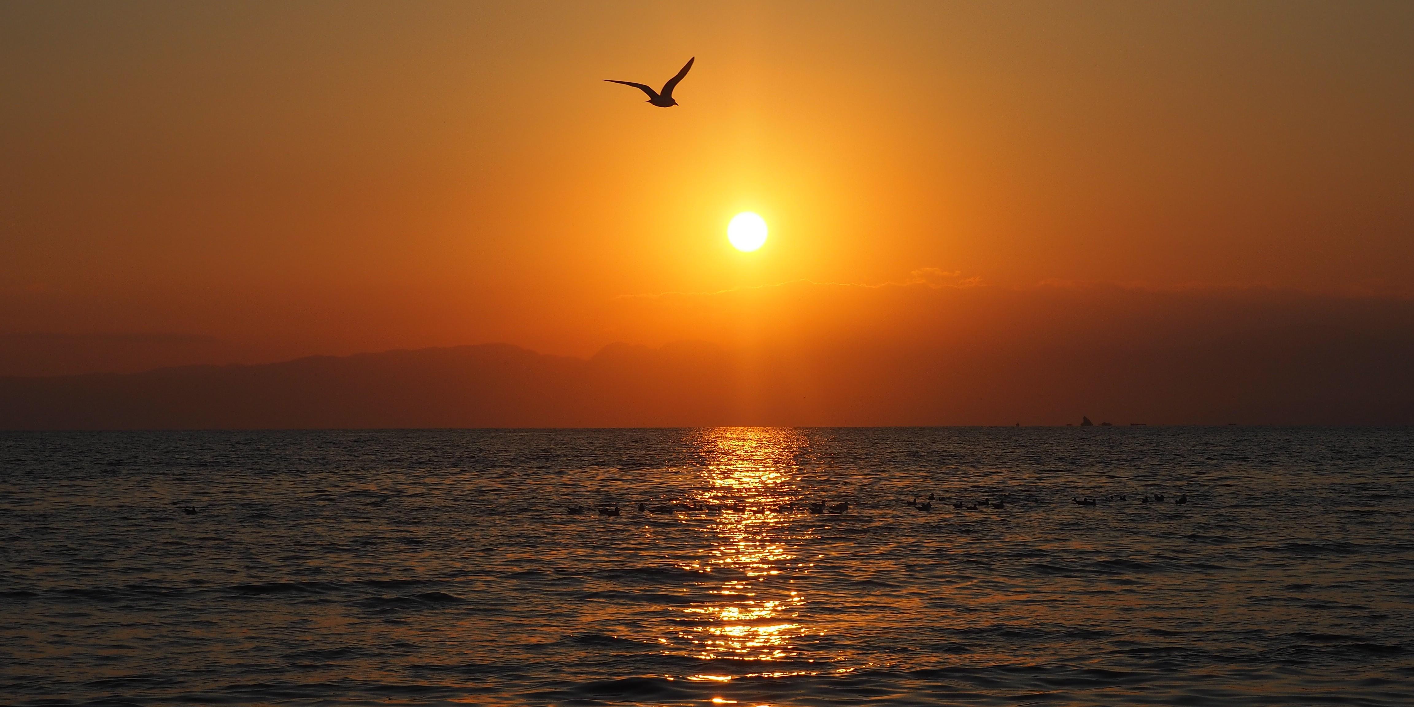 coucher de soleil enoshima