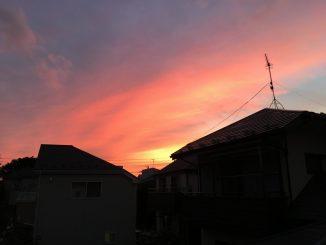 coucher soleil tokyo