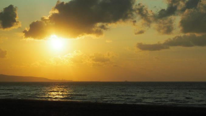 coucher de soleil cap soya wakkanai