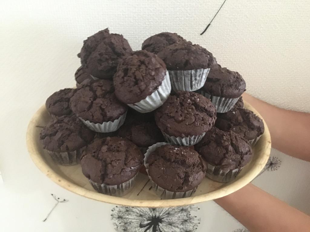 muffins choco green kitchen